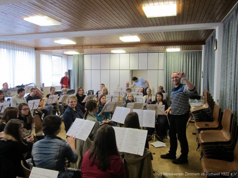 Konzertvorbereitung - Gute Laune und doch konzentriertes Arbeiten